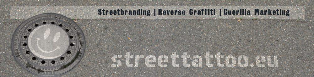 streettattoo | streetbranding | reverse graffiti Logo